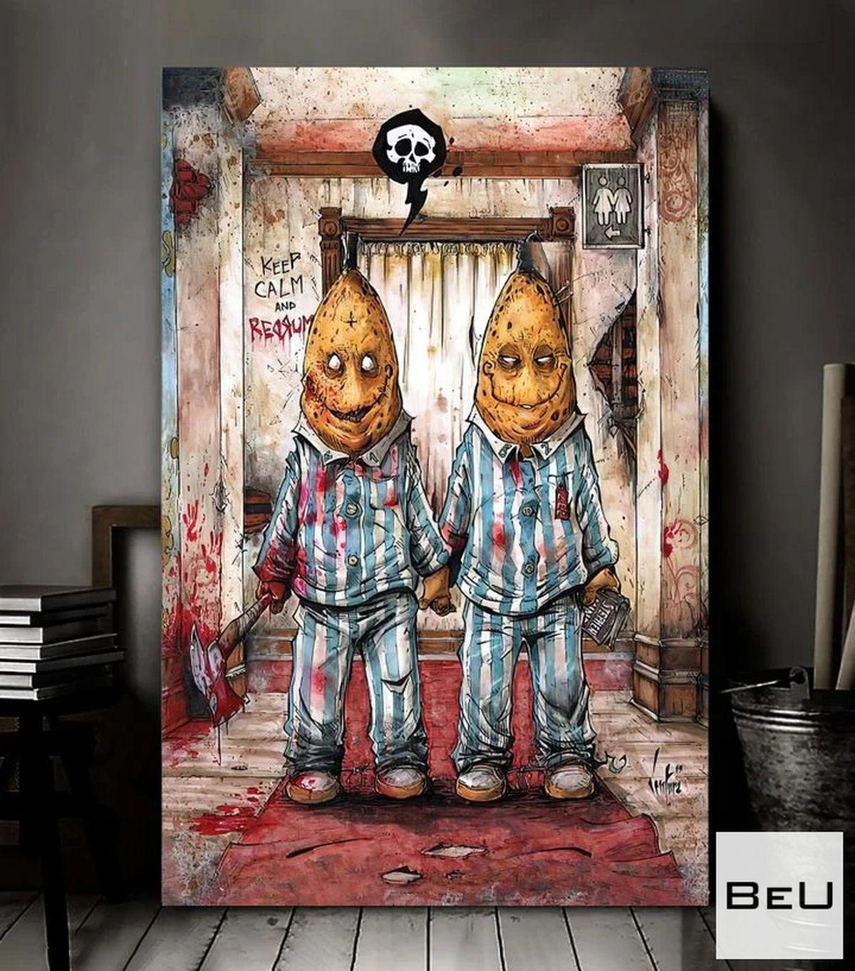 Dark Bananas In Pajamas Keep Calm Canvas