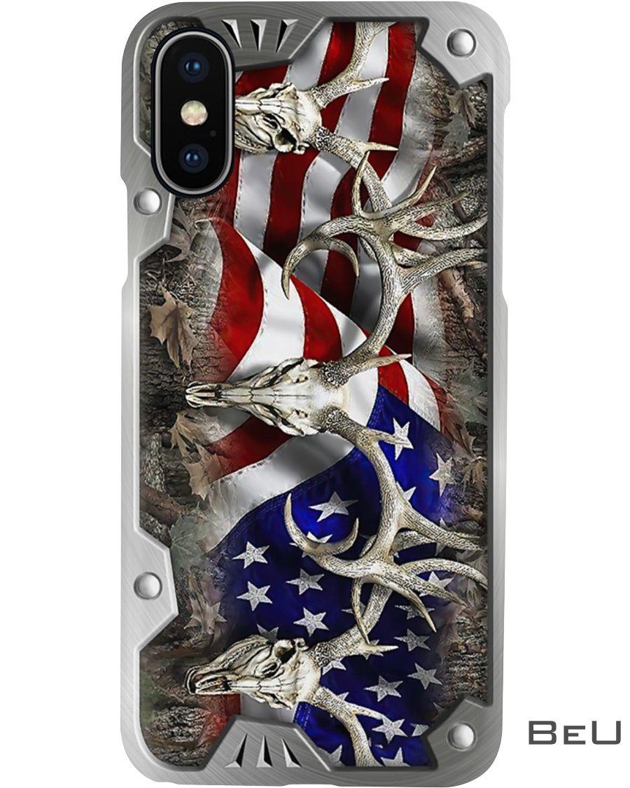 Deer Hunting American Flag as metal phone case