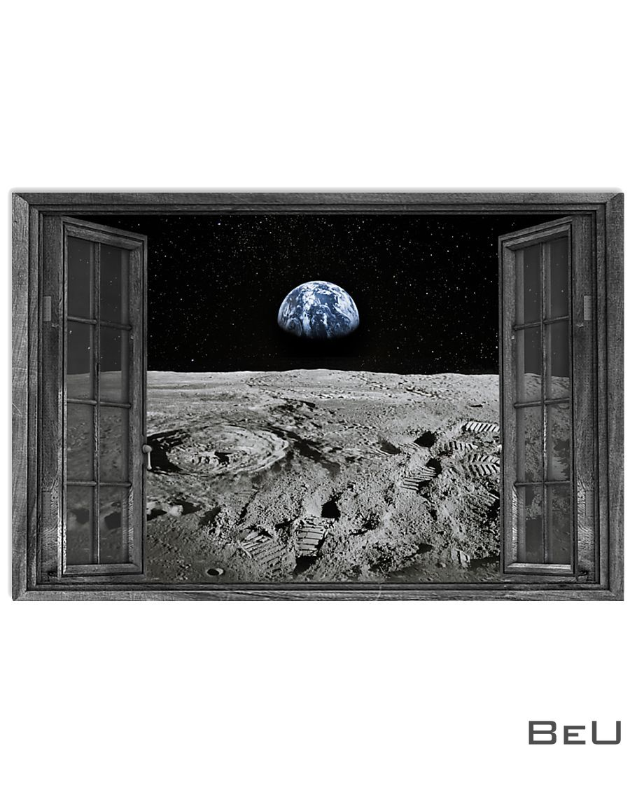 Earth through the window poster