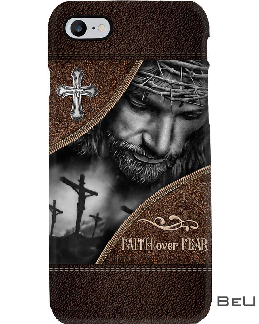 Faith Over Fear As Leather Phone Case