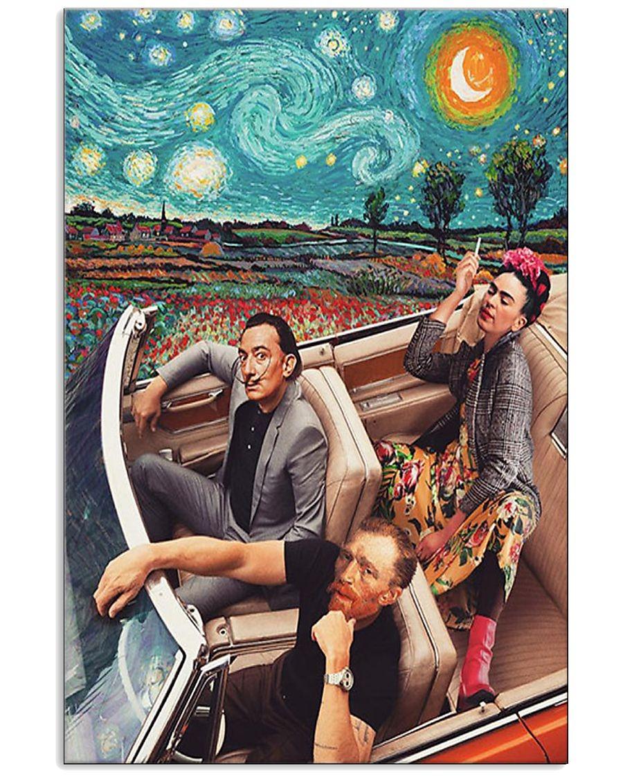 Frida Kahlo Vincent van Gogh Salvador Dalí Starry Night Poster