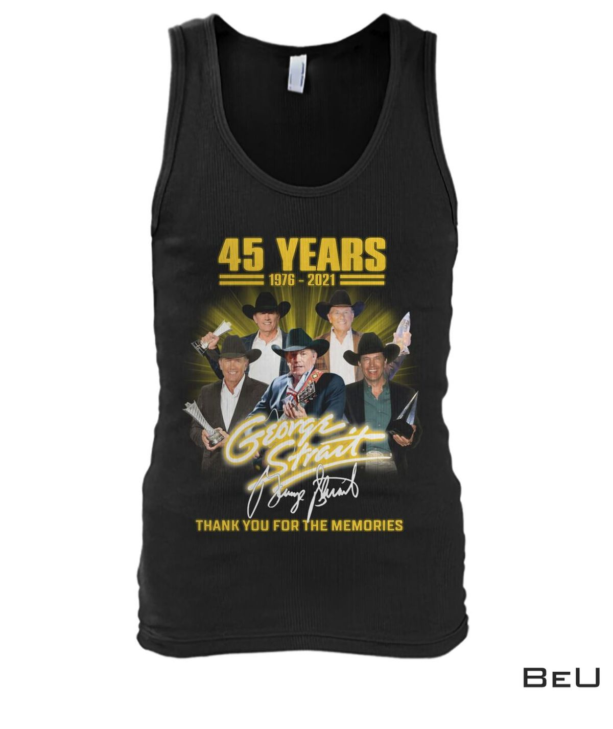 Fast Shipping George Strait 45 Years Thank You Shirt, hoodie, tank top