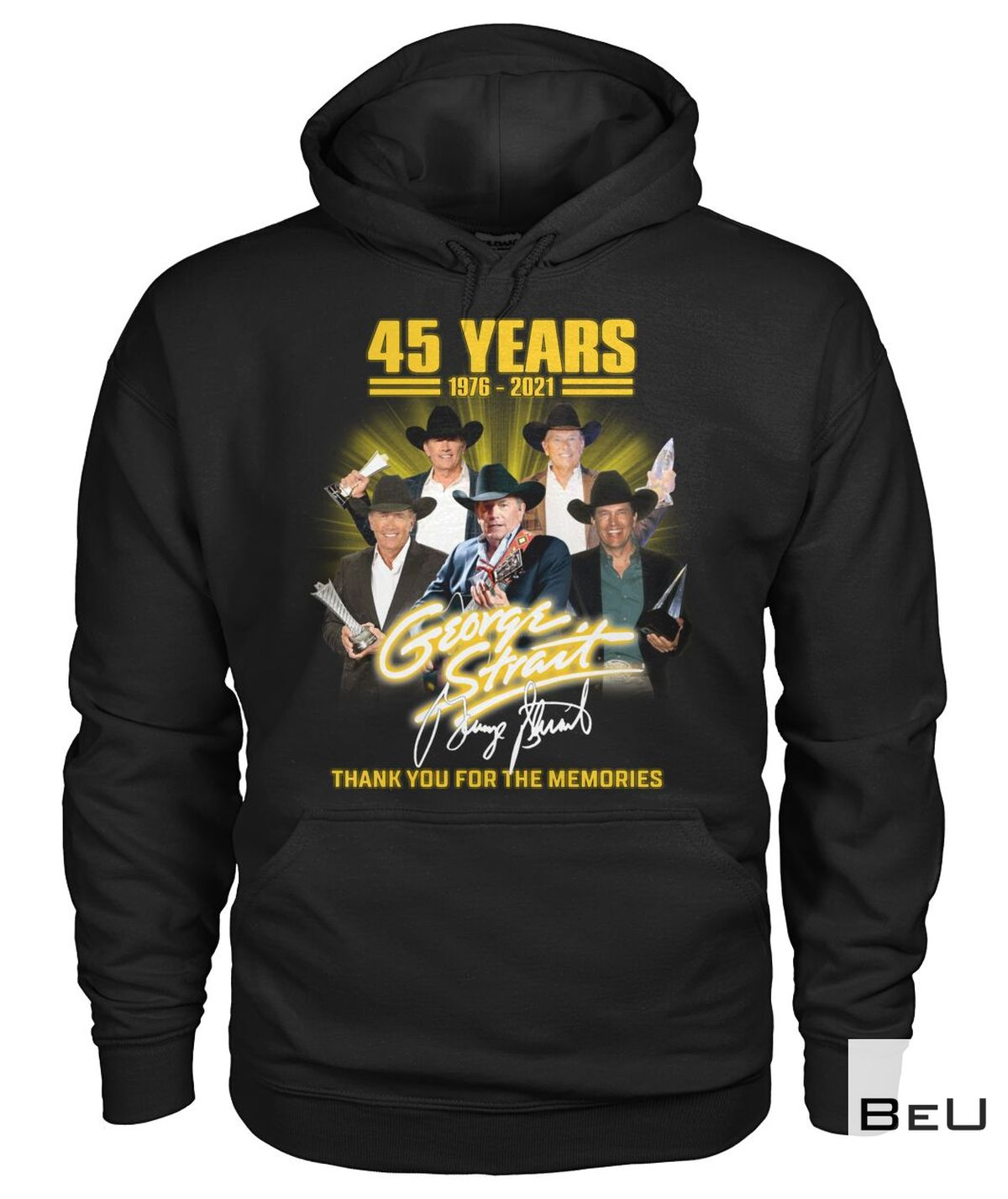 Only For Fan George Strait 45 Years Thank You Shirt, hoodie, tank top