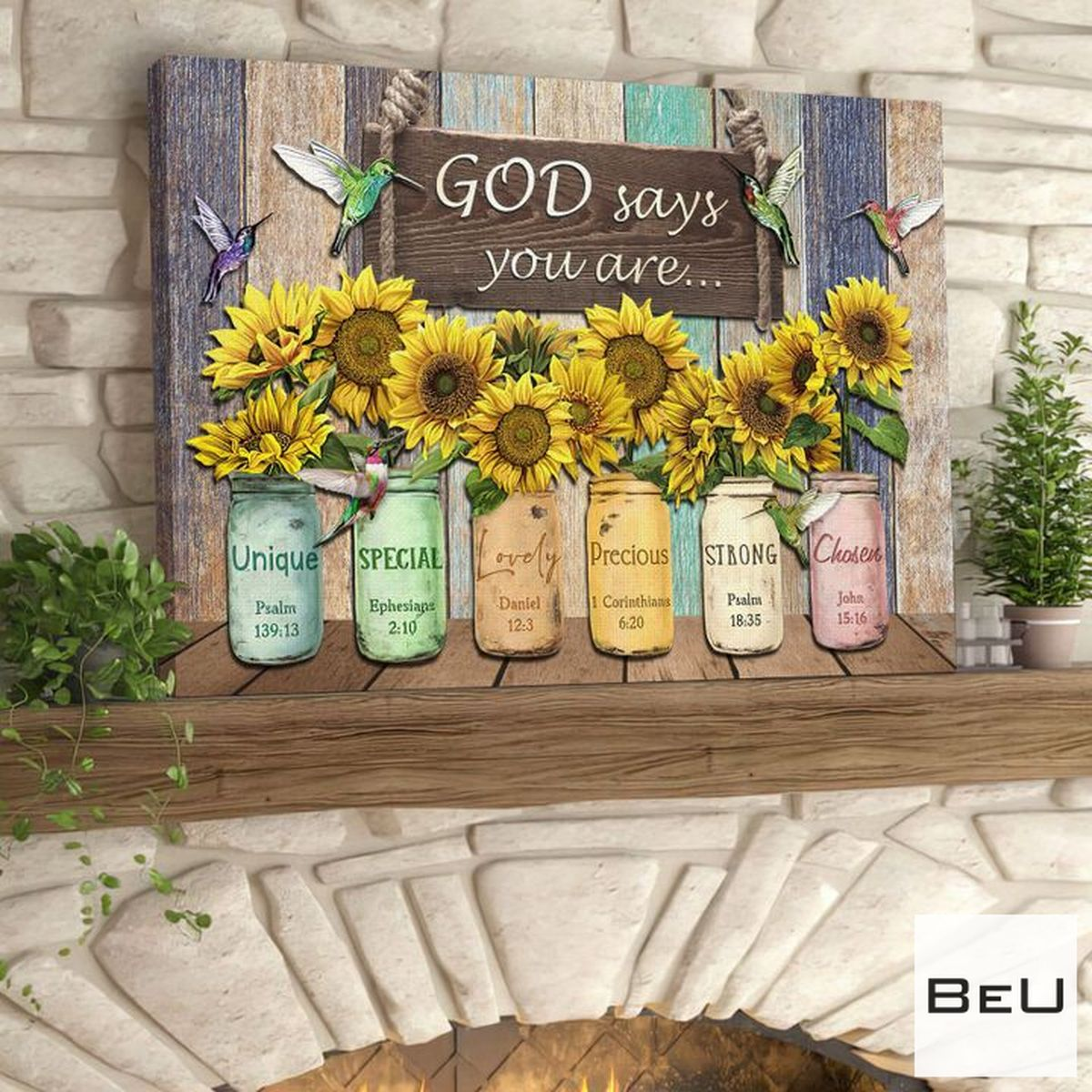 Rating God Say You Are Hummingbird Sunflowers Canvas