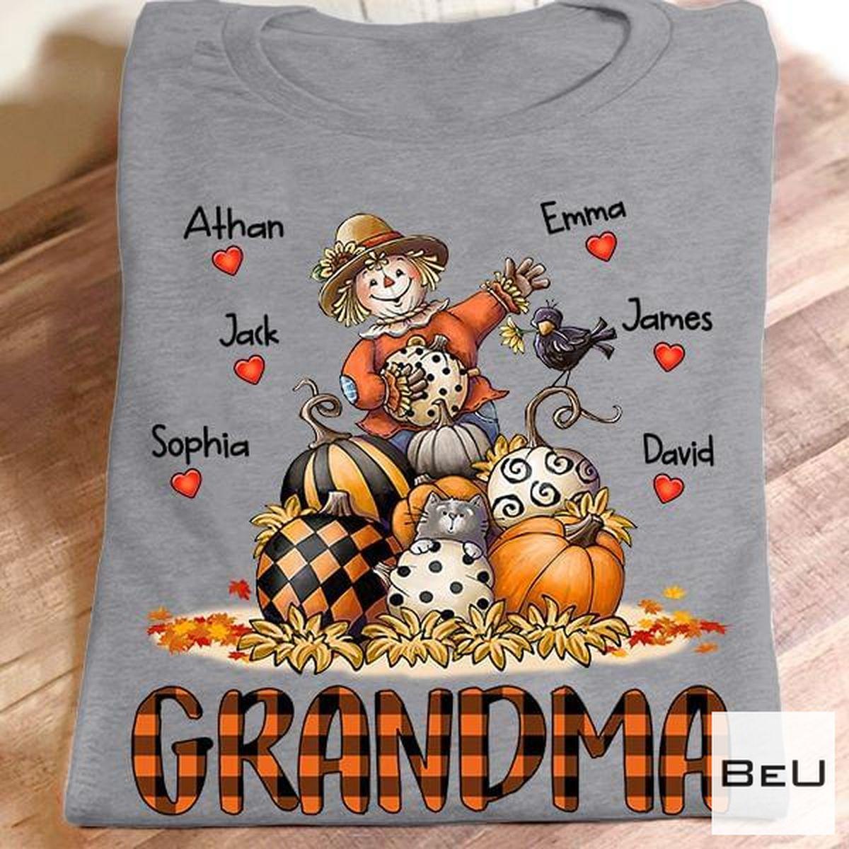Grandma Happy Halloween Pumpkins Shirt
