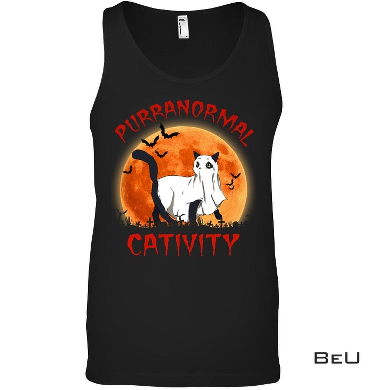 3D Halloween Cat Purranormal Cativity Shirt, hoodie, tank top