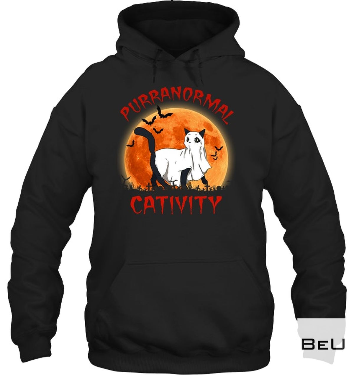 Ships From USA Halloween Cat Purranormal Cativity Shirt, hoodie, tank top