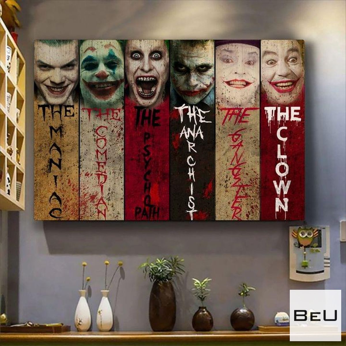 Horror Movies Characters The Maniac The Comedian Poster