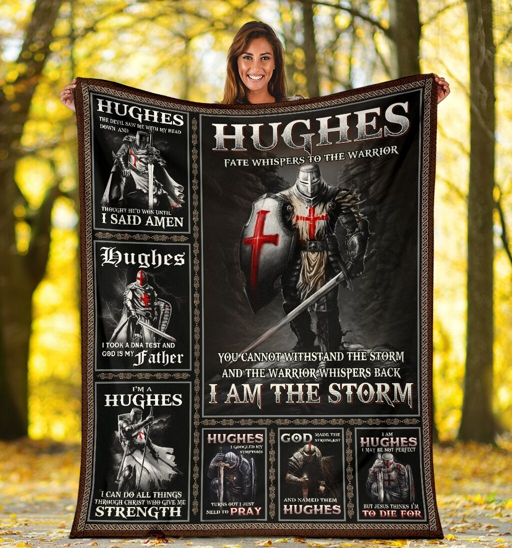 Hughes-Fate-Whispers-To-The-Warrior-You-Cannot-Withstand-The-Storm-And-The-Warrior-Whispers-Back-I-Am-The-Storm-Fleece-Blanket