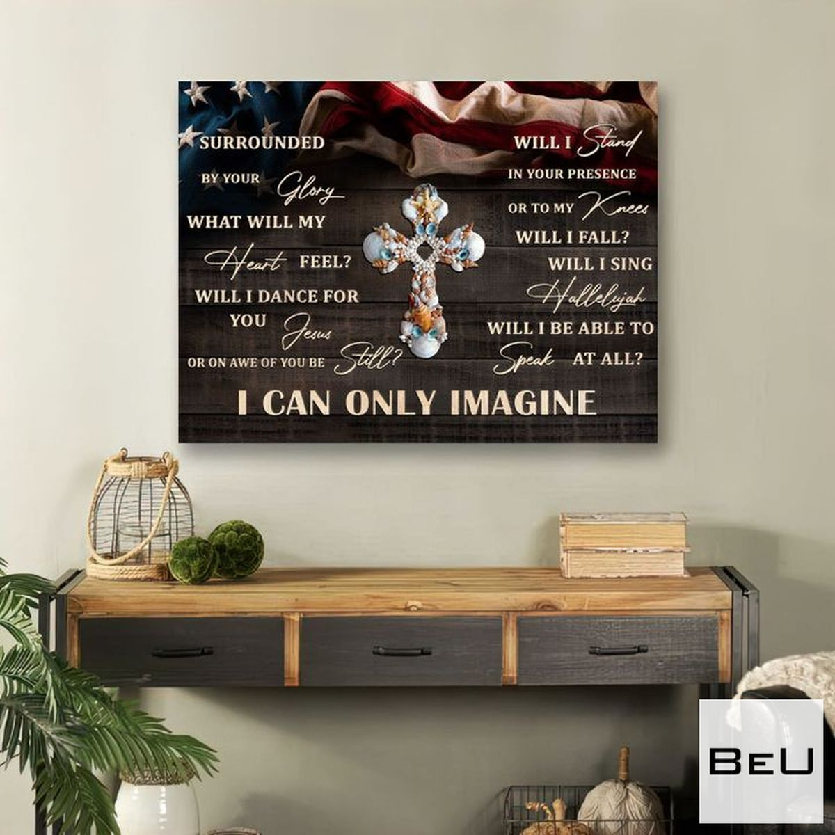 Buy In US I Can Only Imagine God Cross Canvas