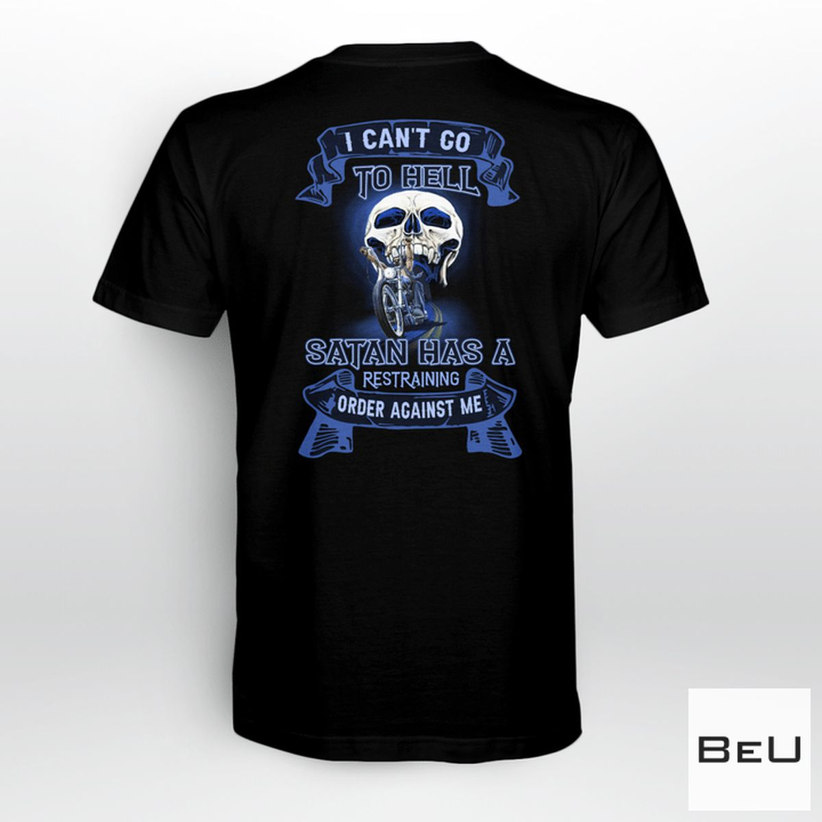 I Can't Go To Hell Santa Has A Restraining Order Against Me Skull Shirt, hoodie, tank top