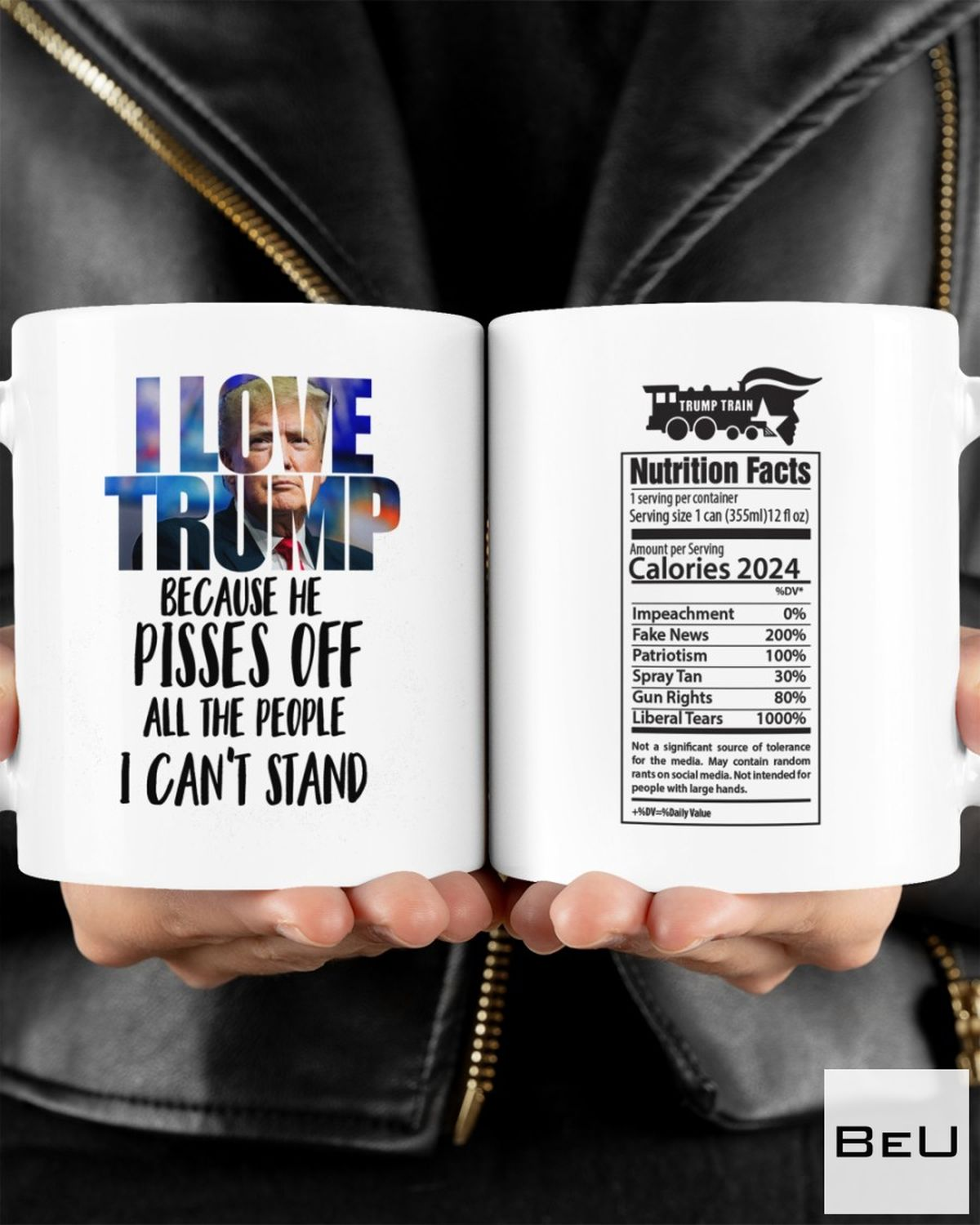 Vibrant I Love Trump Because He Pisses Off All The People Can't Stand Mugs