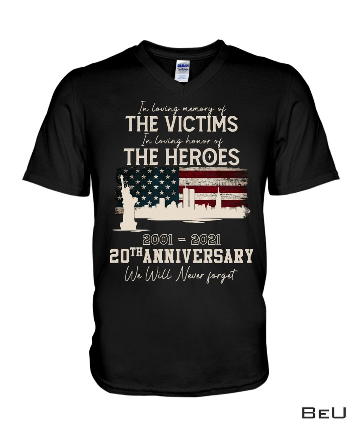 In Loving Memory Of The The Victims 2001 2021 20th Anniversary Shirt c