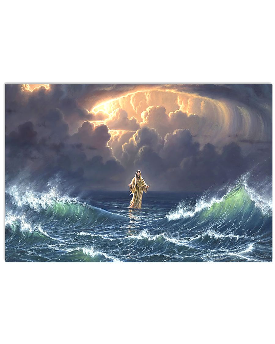 In The Storm Jesus Walked On The Water Poster 1