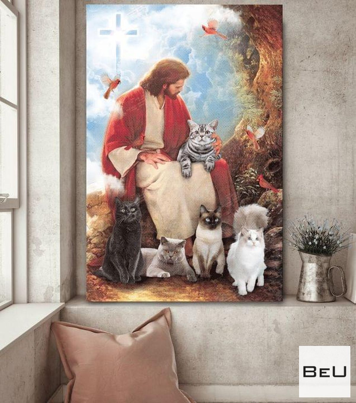 Jesus And Cats For Cat Lover Poster