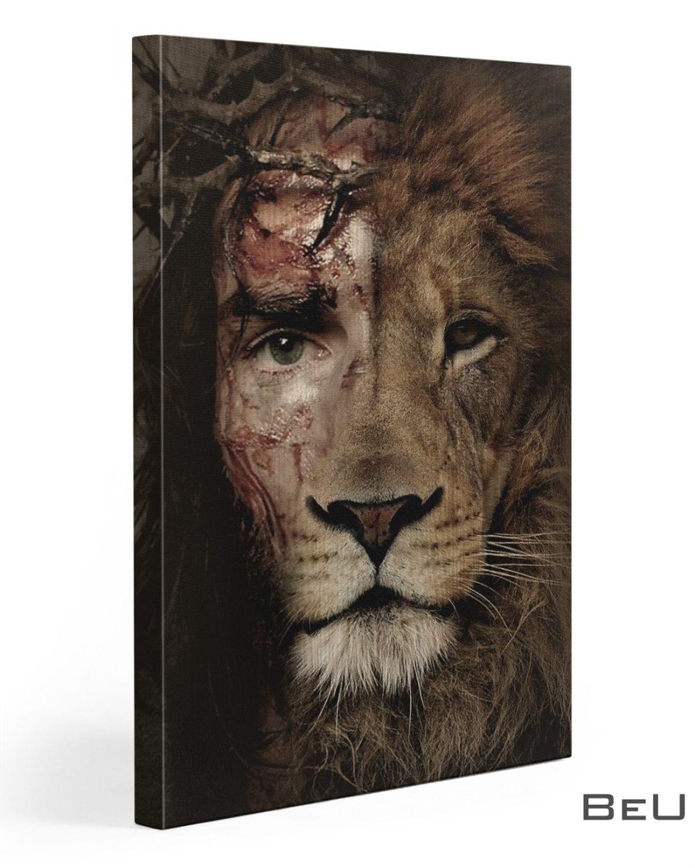 Jesus Lion Eyes Canvas