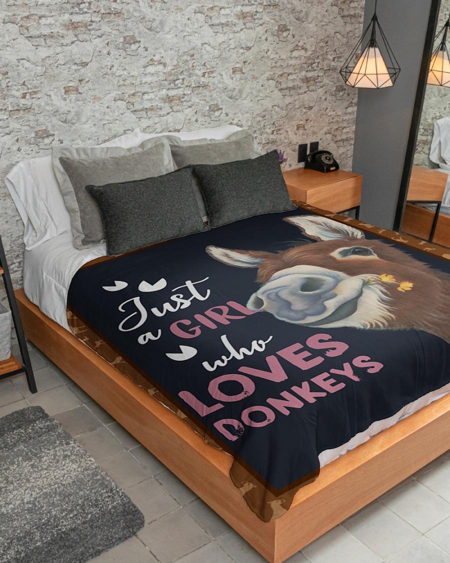 Just A Girl Who Loves Donkey Fleece Blanket