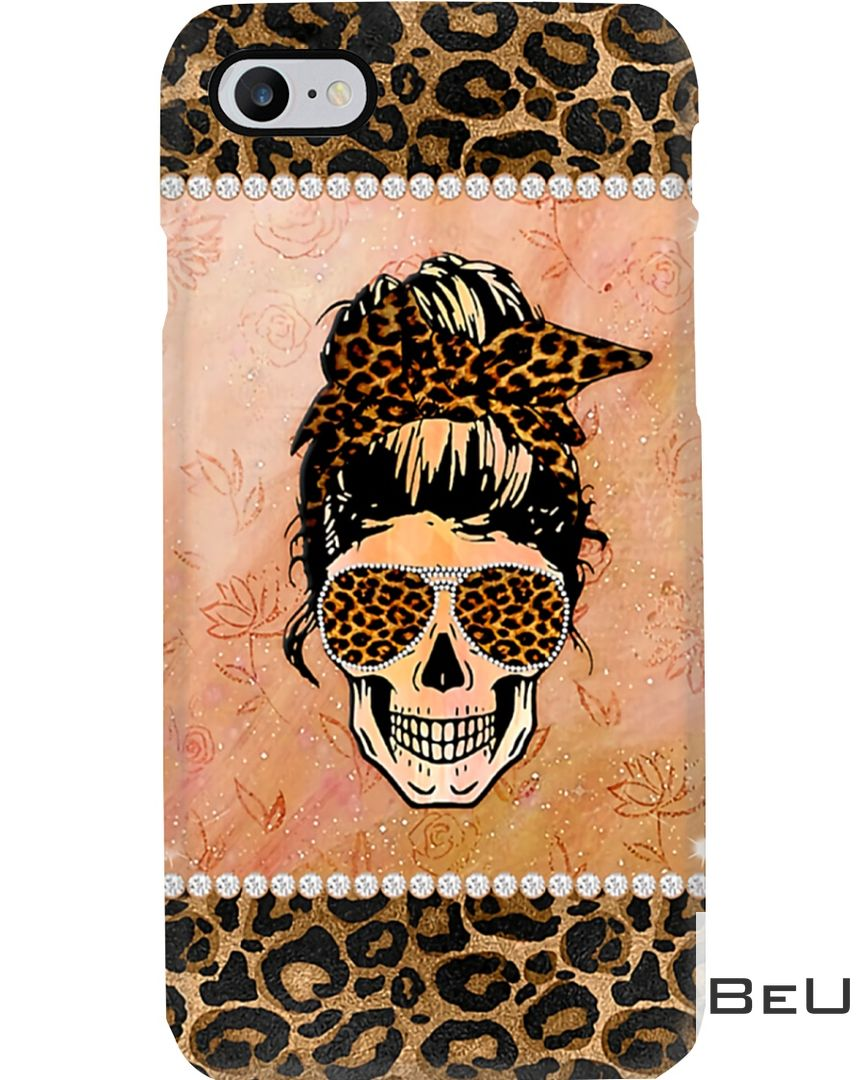 Lady Skull Leopard Skin Phone Case