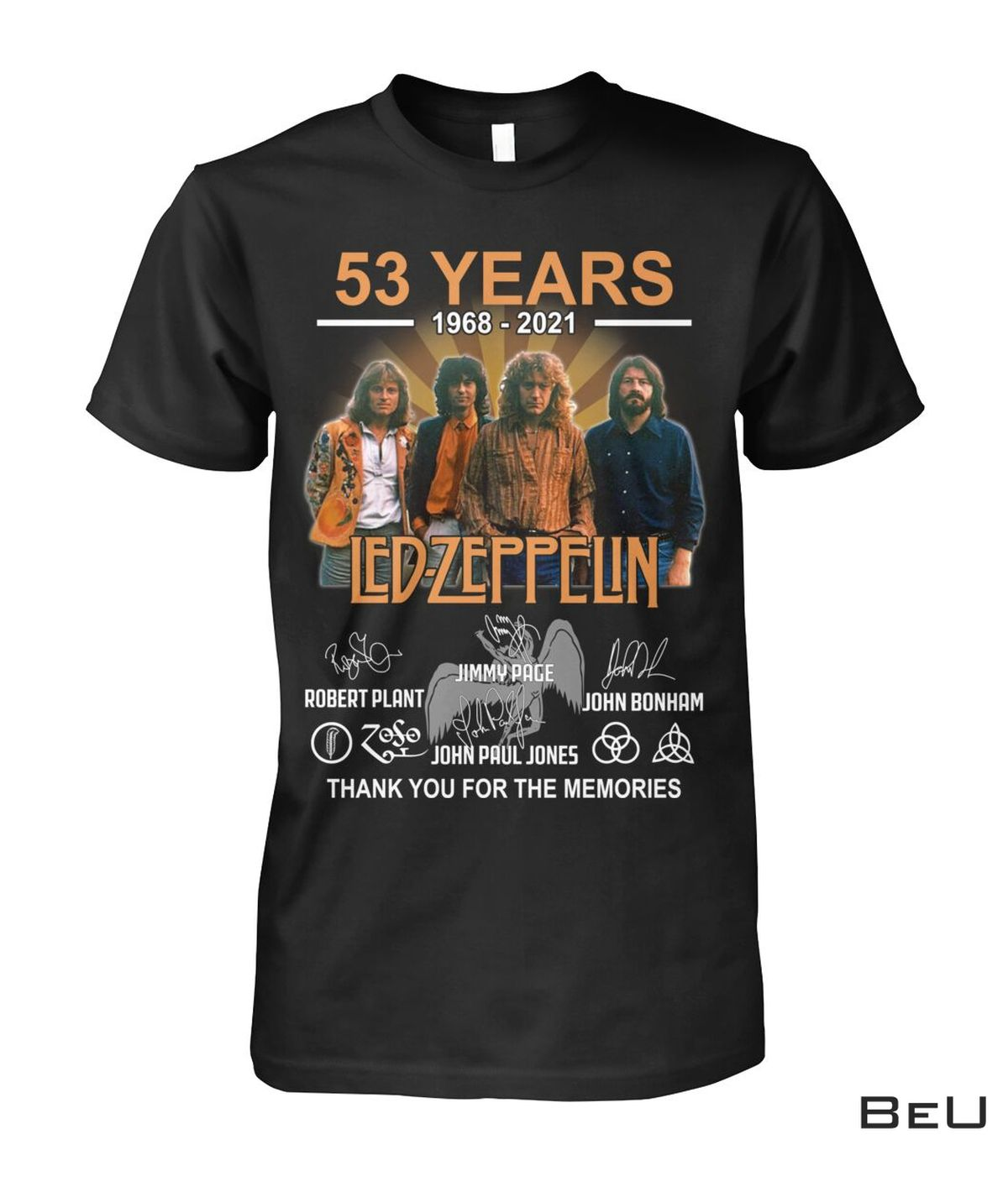 Led Zeppelin 53 Years Anniversary Thank You For The Memories Shirt, hoodie, tank top