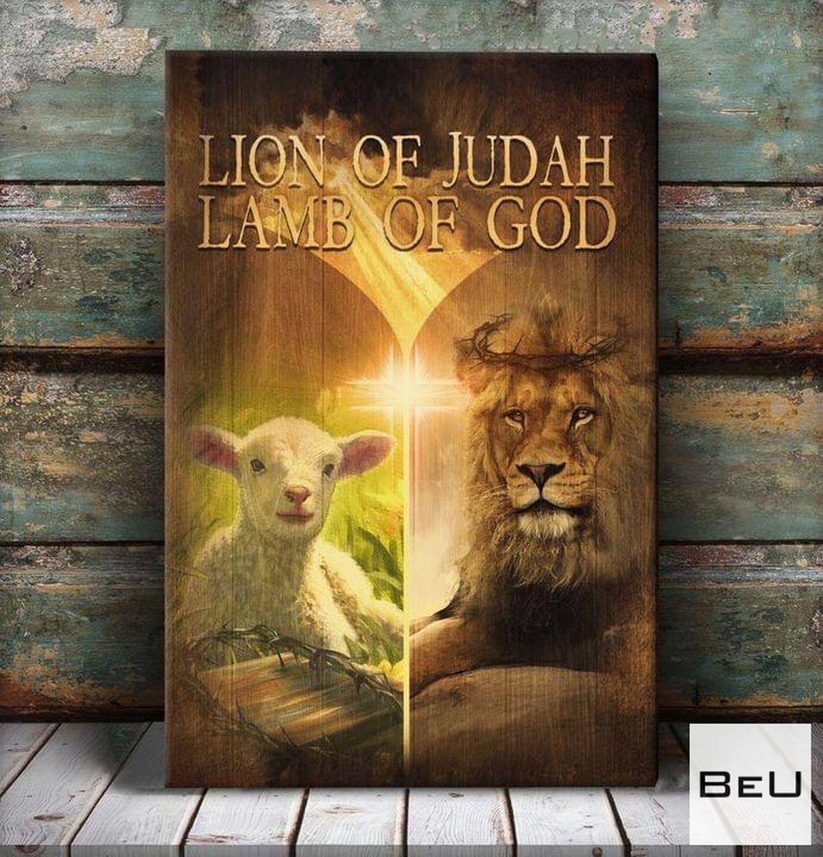 Free Lion Of Judah Lamb Of God Canvas