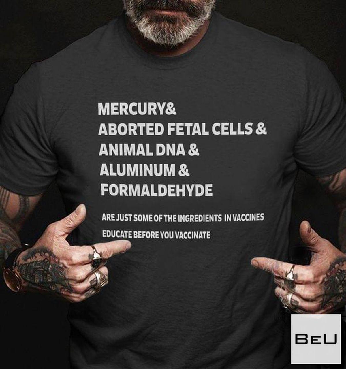 Mercury & Aborted Fetal Cells Shirt, hoodie, tank top