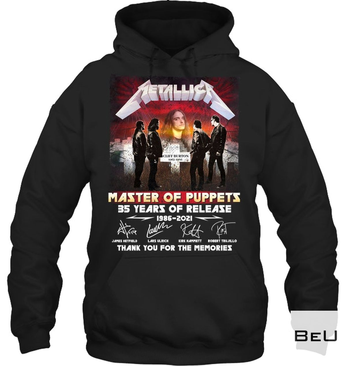 Free Ship Metallica Master Of Puppets 35 Years Of Release 1986-2021 Shirt