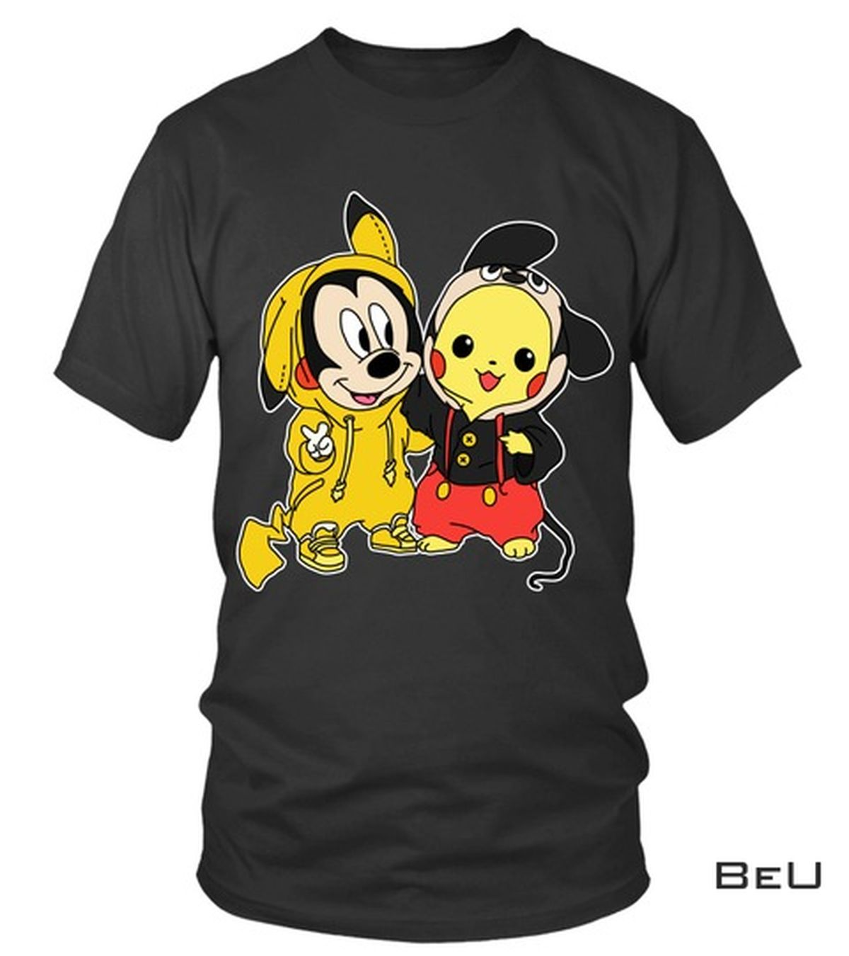 Mickey Mouse And Pikachu Pokemon Shirt, hoodie, tank top