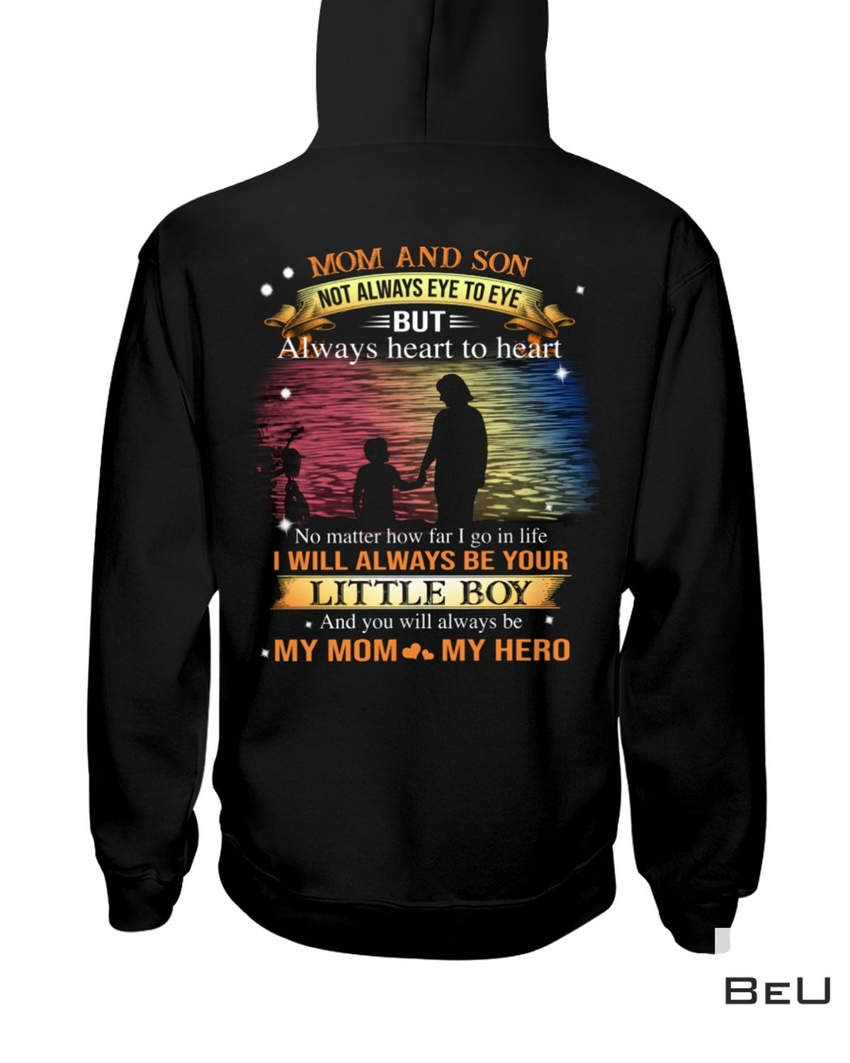 All Over Print Mom And Son Not Always Eye To Eye But Always Heart To Heart Shirt, hoodie, tank top