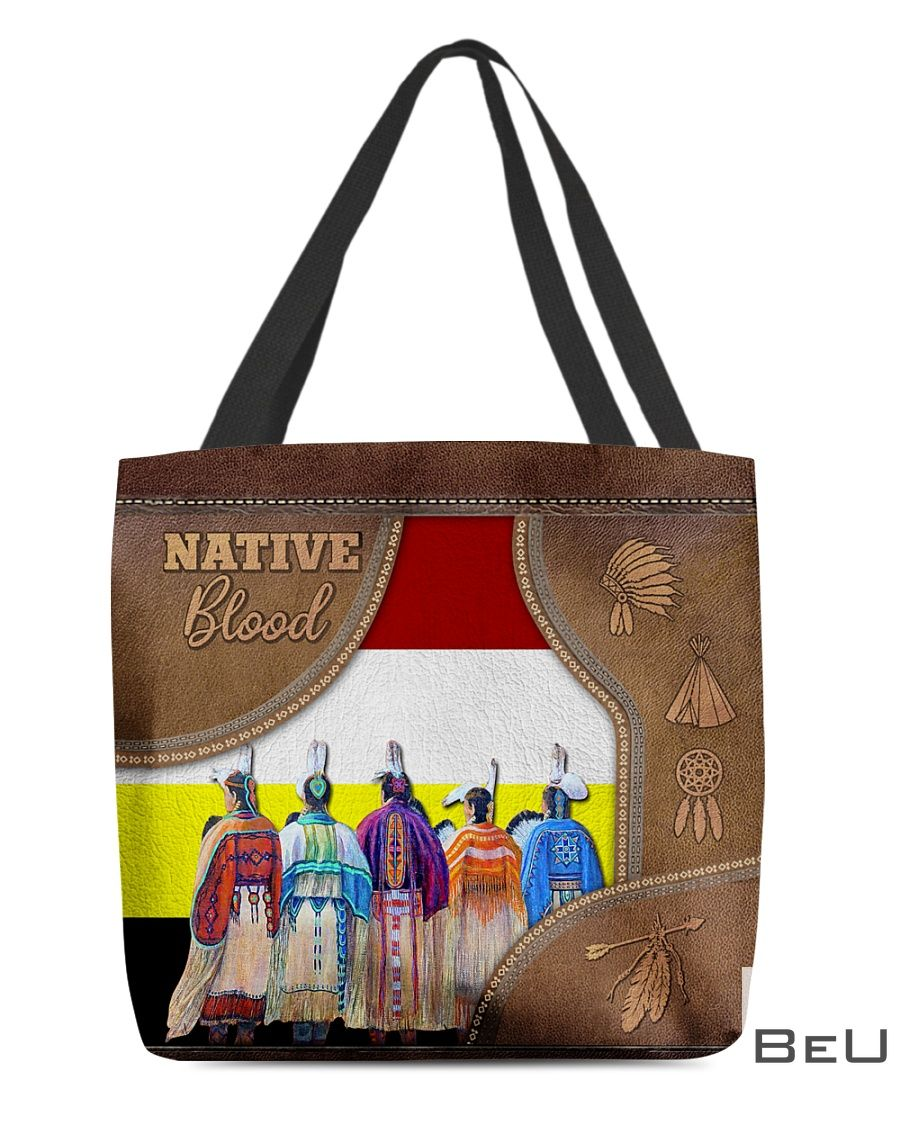 Native Blood as leather tote bag
