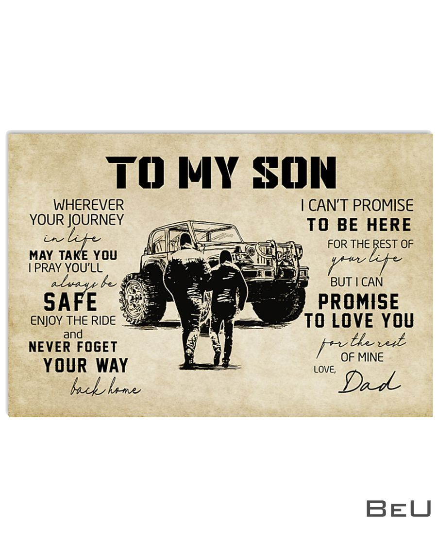 Off-road Vehicle To my son wherever your journey in life may take you poster