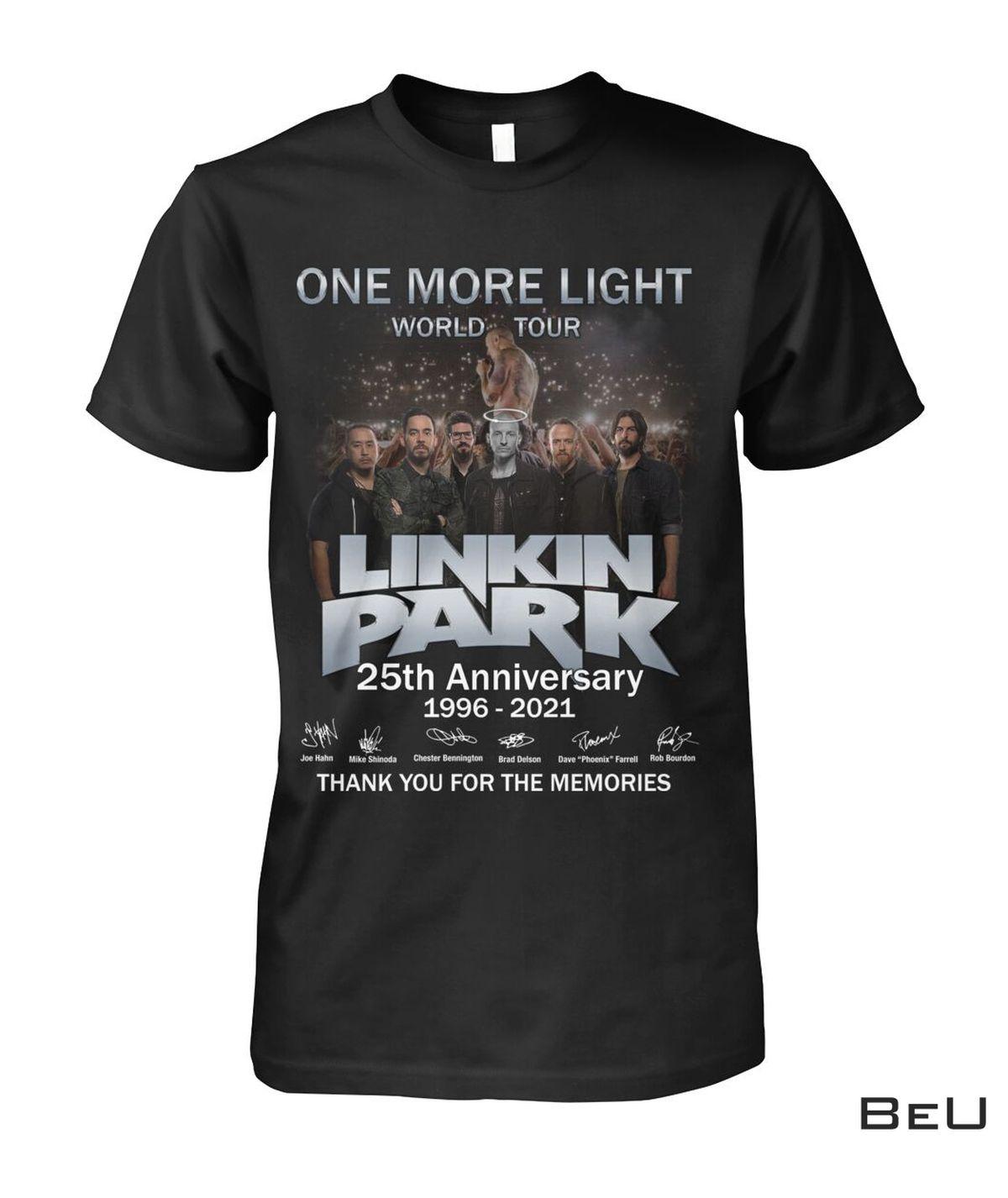 One More Light World Tour Linkin Park 25th Anniversary Shirt, hoodie, tank top