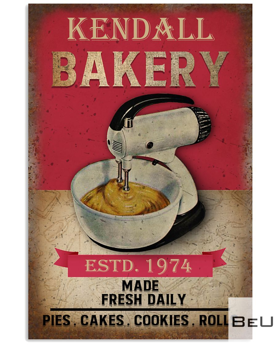 Personalized Bakery Made Fresh Daily Pies Cakes Cookies Rolls Poster