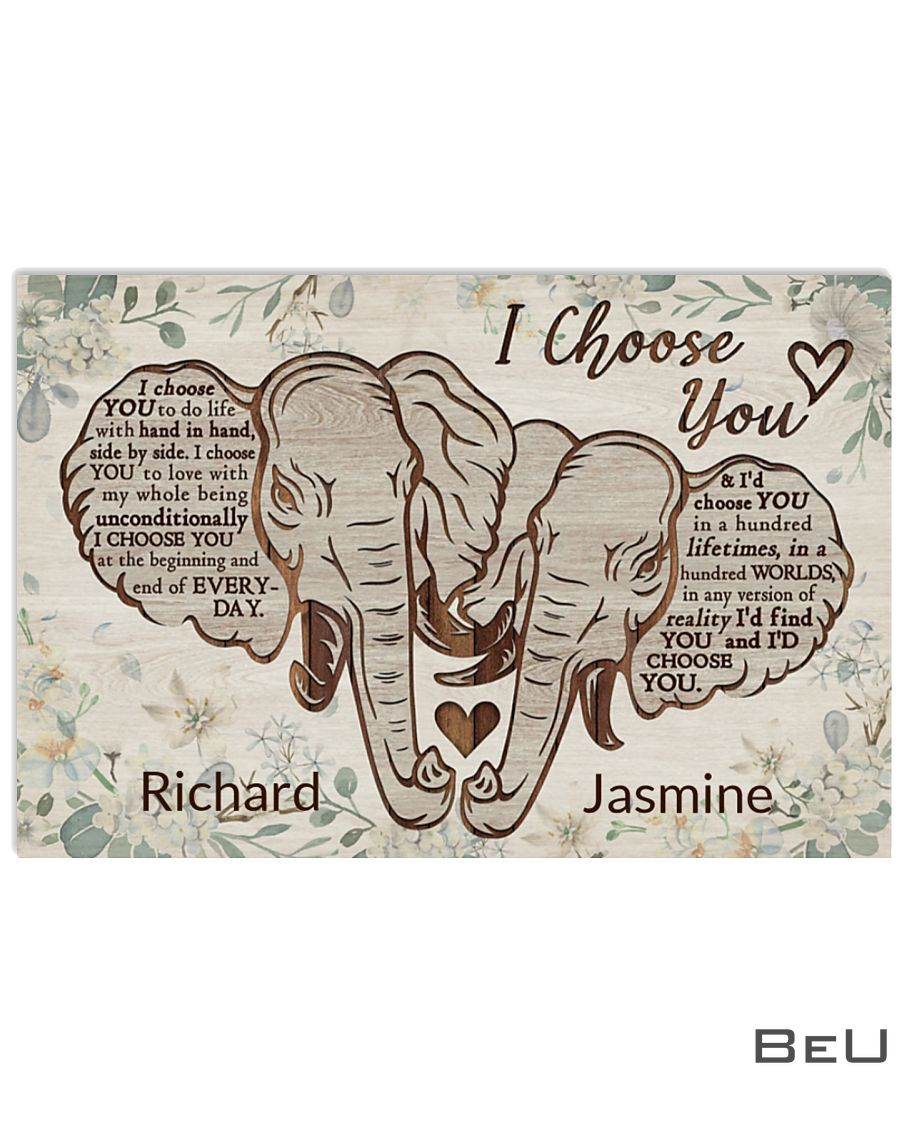 Personalized Elephant I Choose You Poster