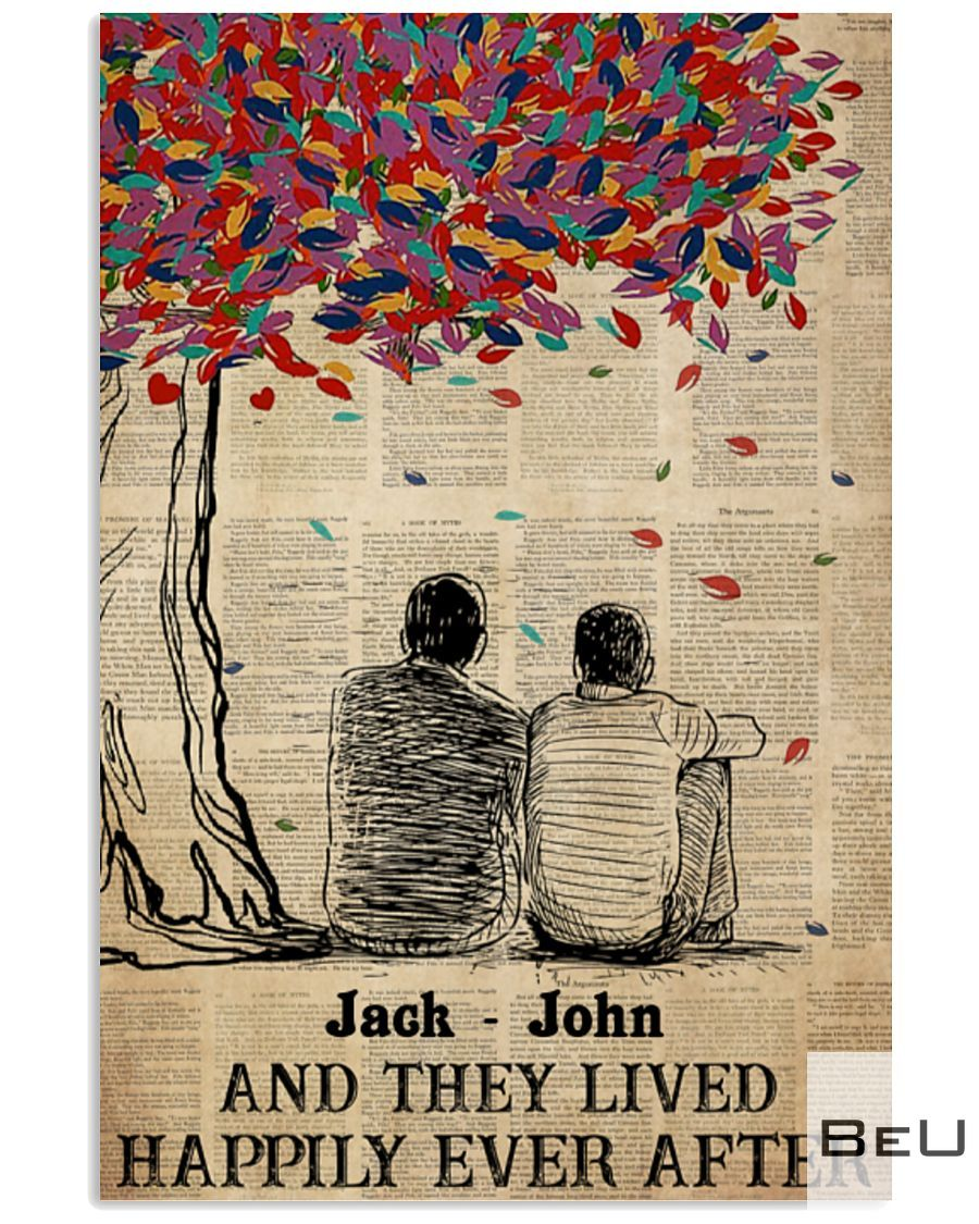 Personalized Gay Couple And They Lived Happily Ever After Poster