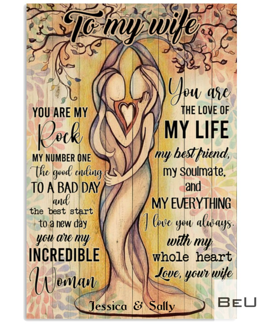 Personalized Lesbian To my wife You are my rock my number one poster