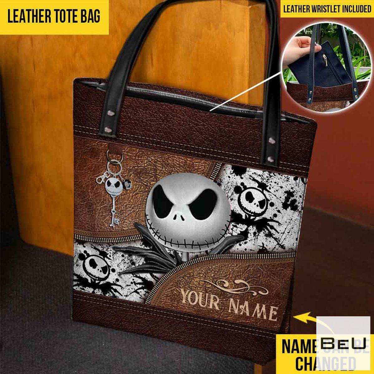 Personalized Nightmares Skeleton Tote Bag