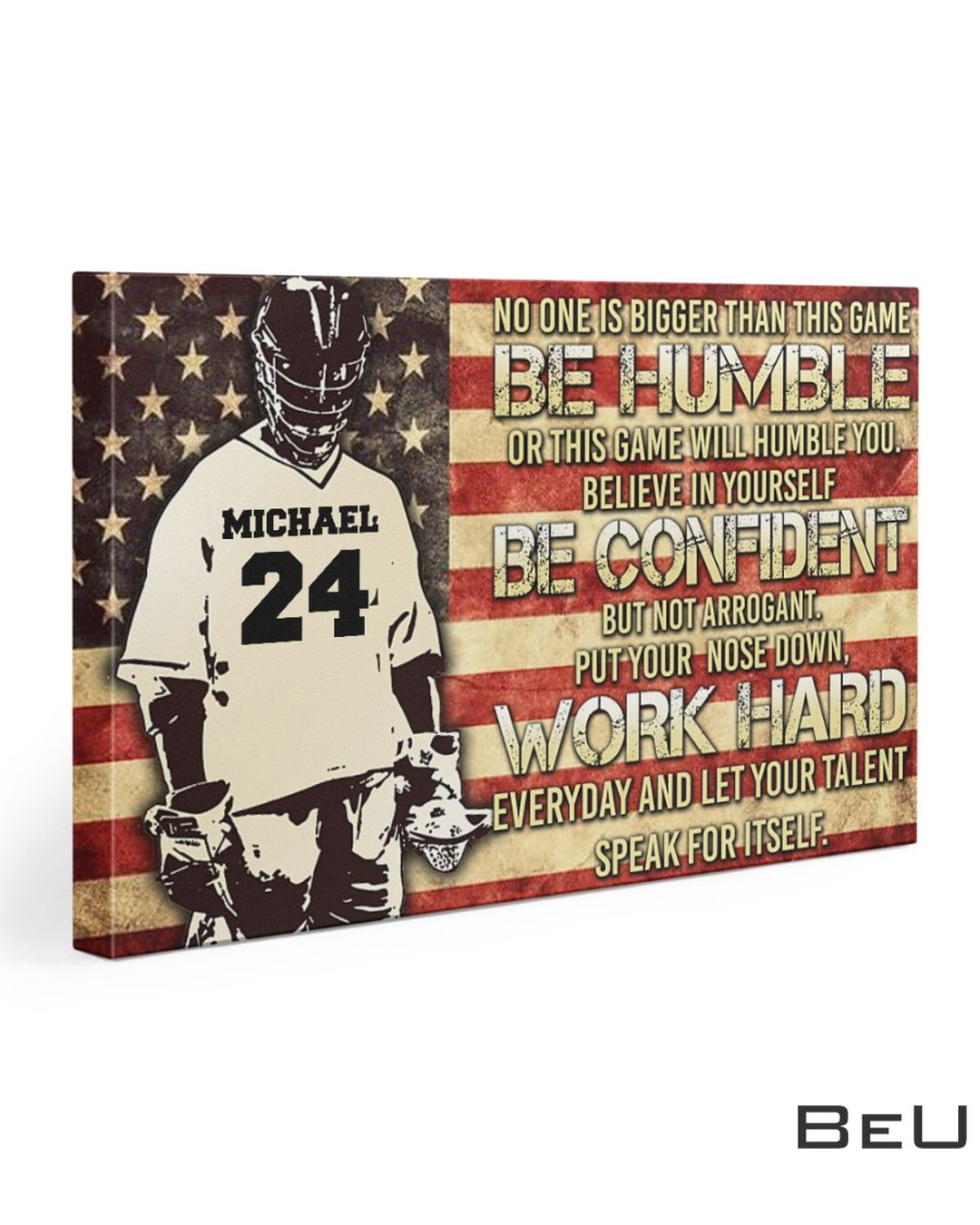 Personalized No One Is Bigger Than This Game Be Humble Or This Game Will Humble You Canvas