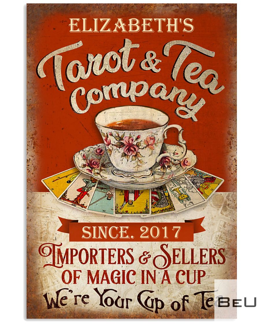 Personalized Tarot & Tea Company Importers & Sellers Of Magic In A Cup Poster