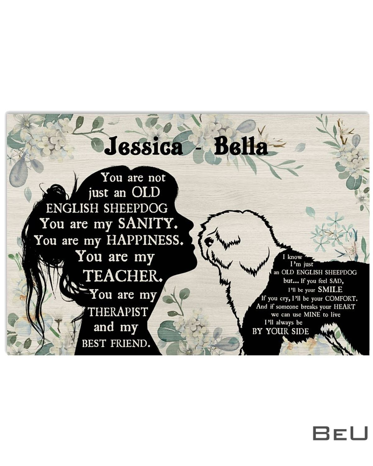 Personalized You Are Not Just An Old English Sheepdog You Are My Sanity Poster