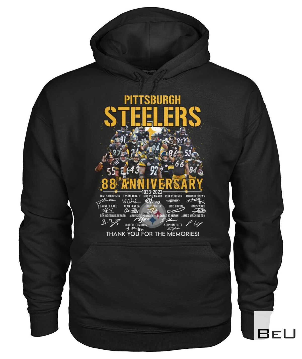 Clothing Pittsburgh Steelers 88th Anniversary Thank You Shirt, hoodie, tank top