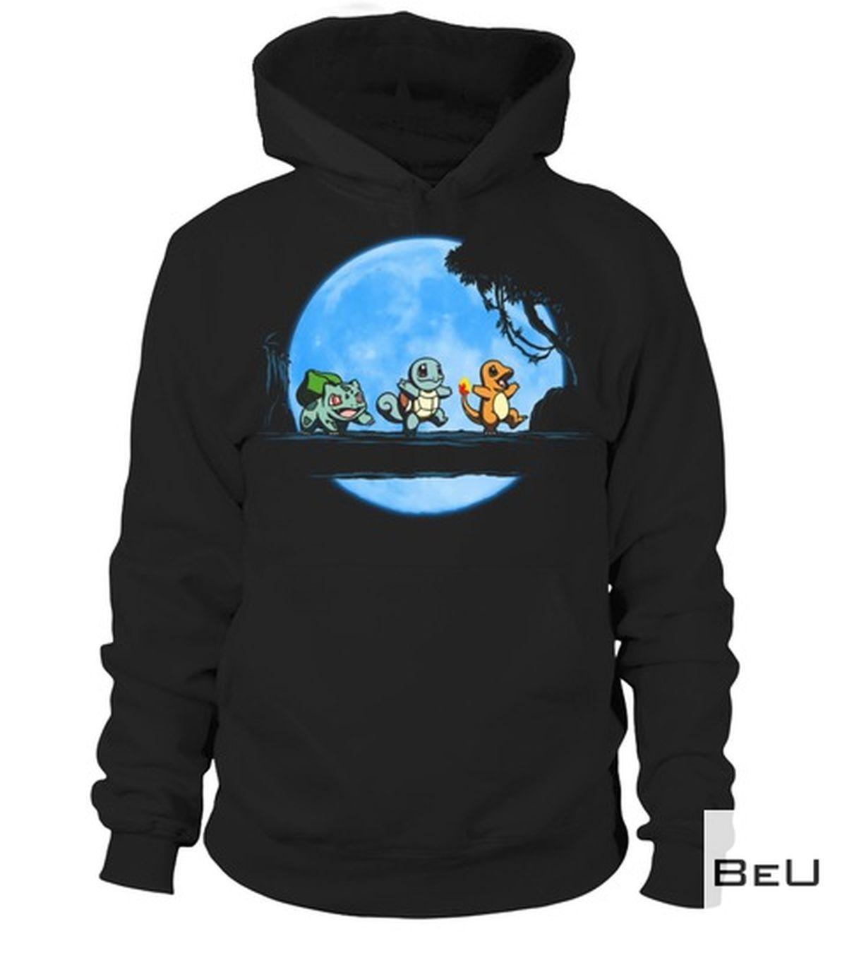 Sale Off Pokemon Baby Bulbasaur Squirtle Charizard Blue Moon Shirt, hoodie, tank top