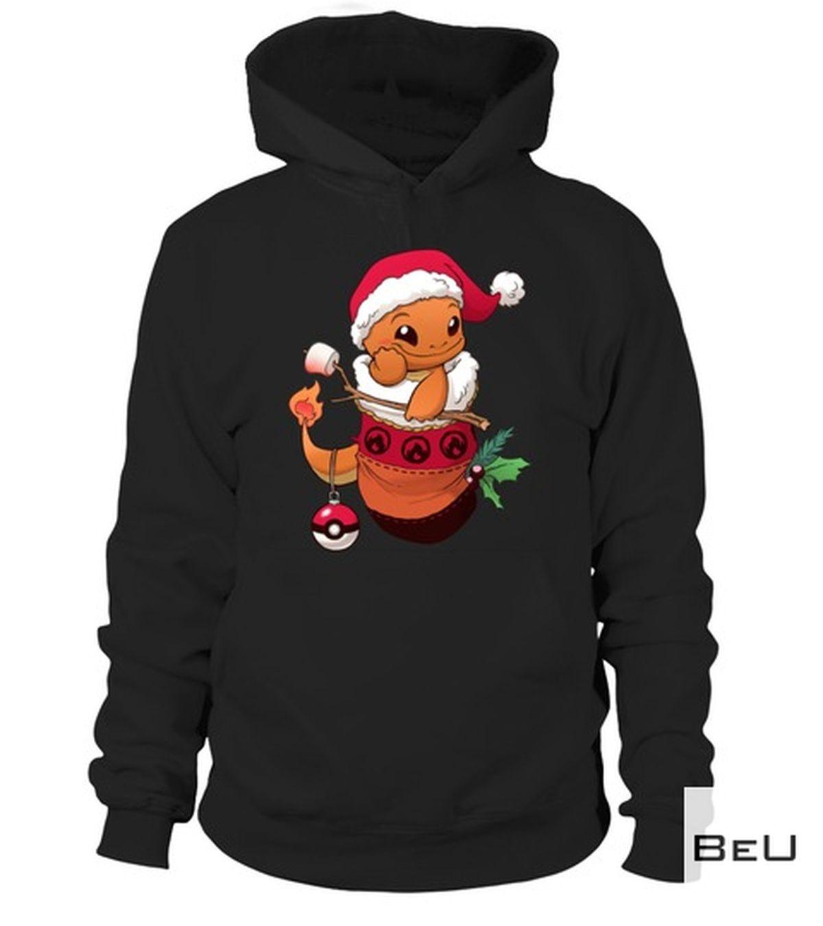 Pokemon Baby Charizard Santa Claus Shirtz