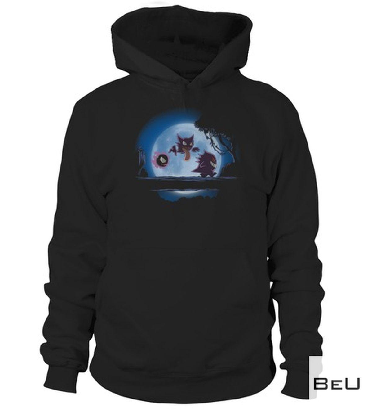 Amazon Pokemon Gengar Walking And The Moon Shirt, hoodie, tank top