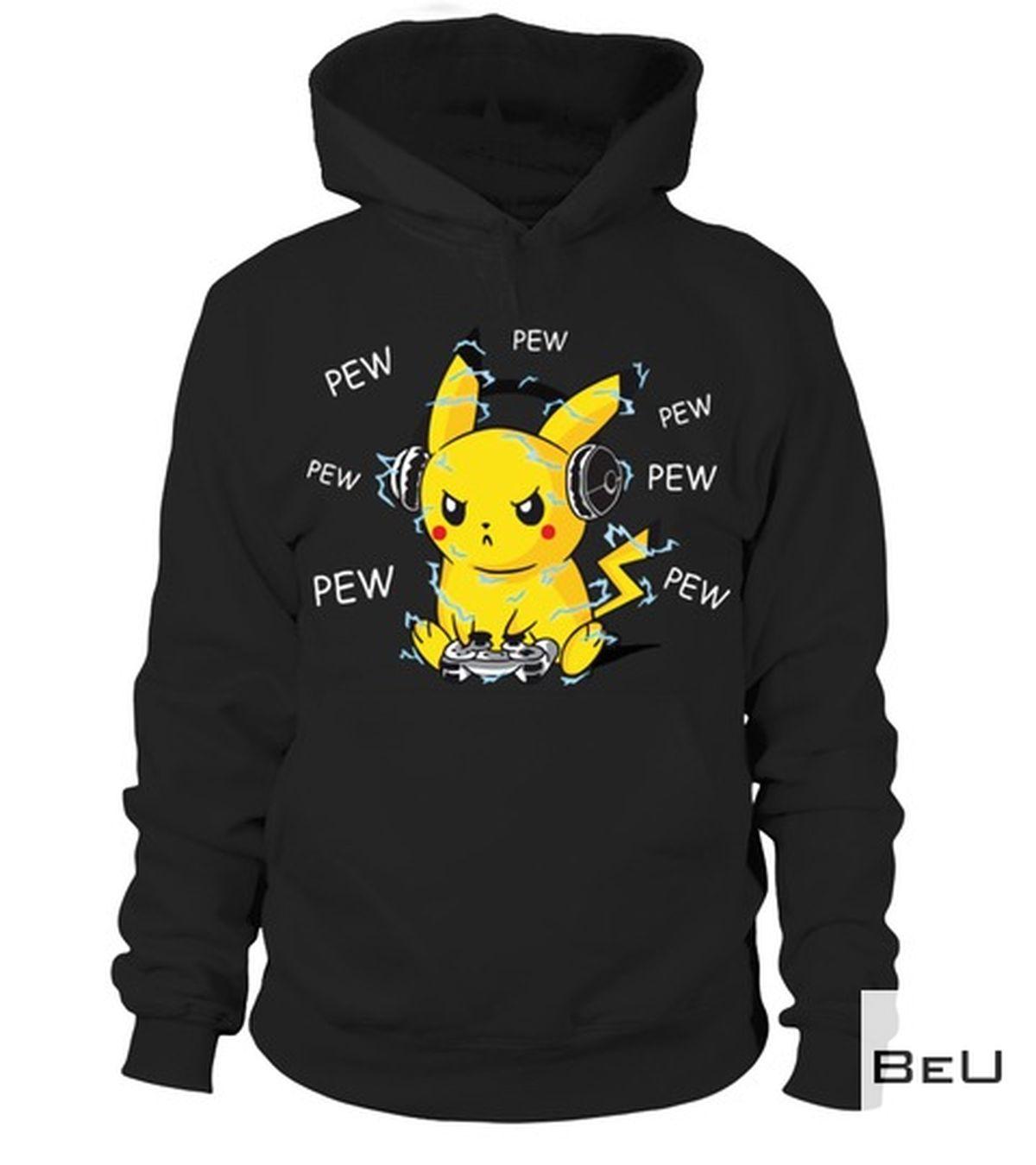 Ships From USA Pokemon Pikachu Playing Game Pew Pew Pew Shirt, hoodie, tank top