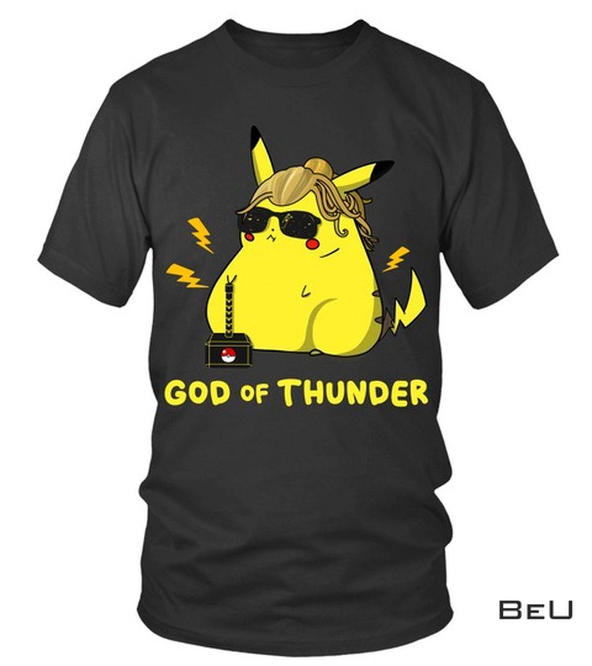 Vibrant Pokemon Pikachu Thor End Game God Of Thunder Shirt, hoodie, tank top