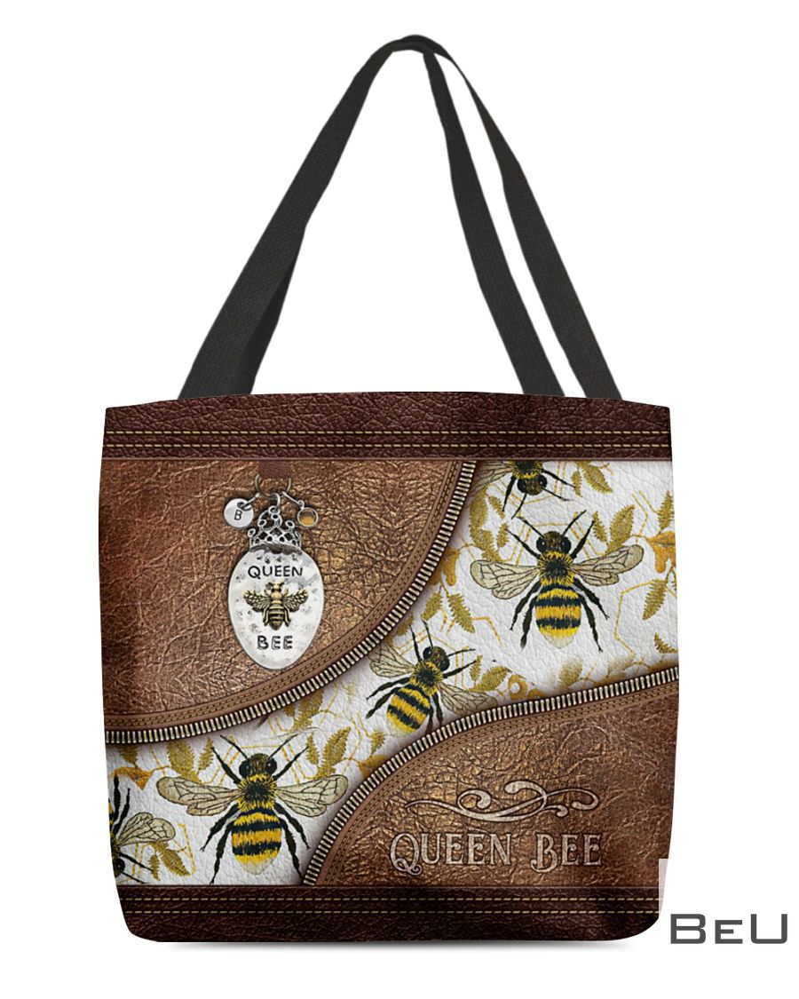 Queen Bee Leather Pattern Print Tote Bag
