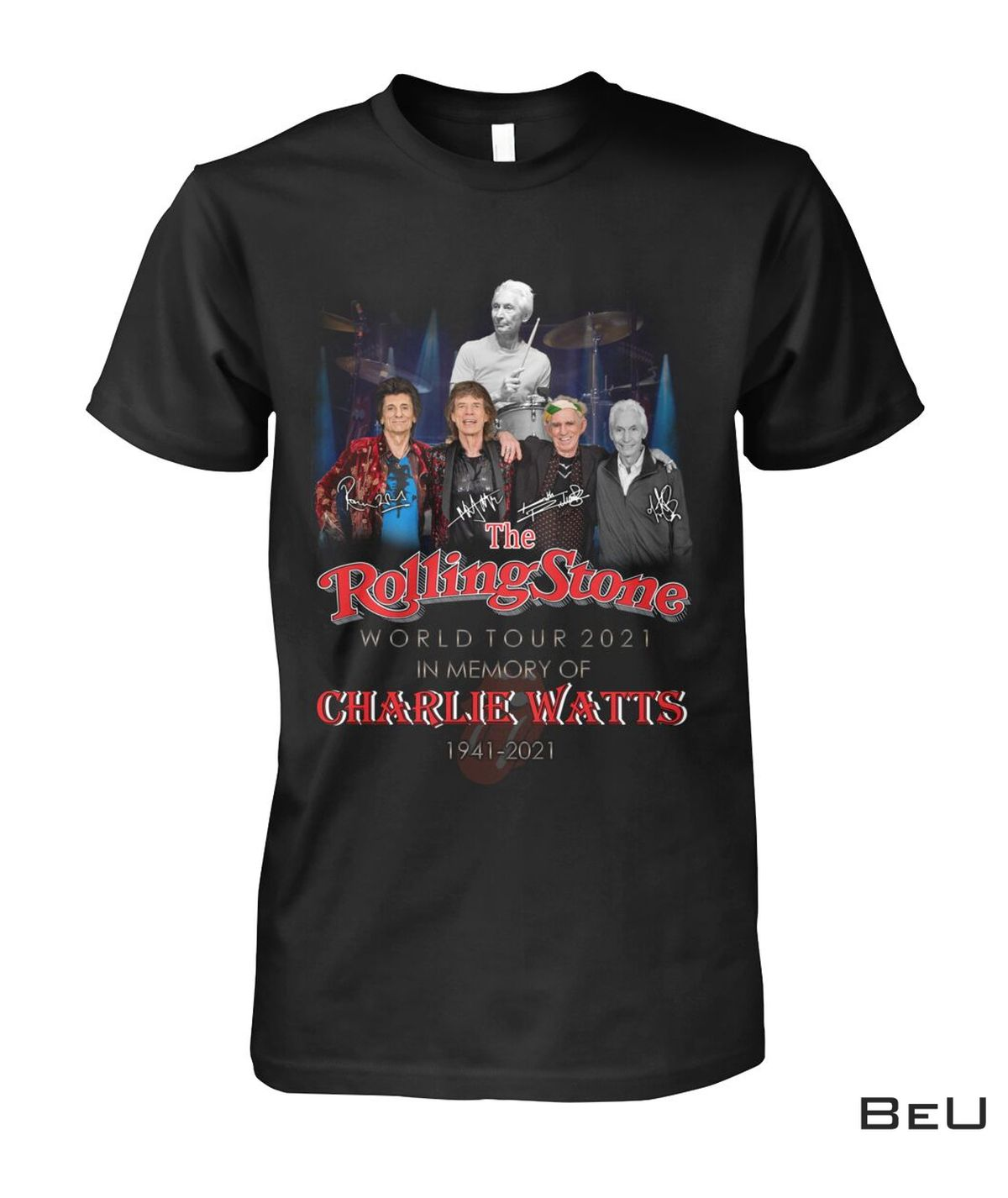 Rolling Stones World Tour 2021 In The Memory Of Charlie Watts Shirt, hoodie, tank top