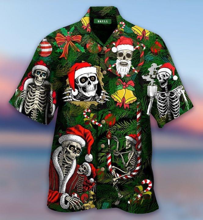 Santa Skull Christmas Hawaiian Shirt