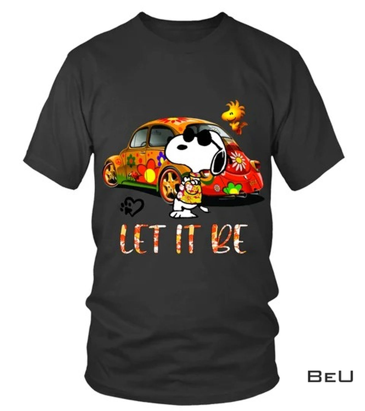 Snoopy Let It Be Hippie Bus Shirt