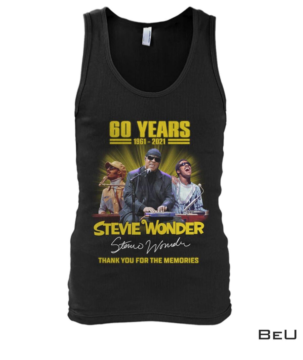 Best Stevie Wonder 60 Years Thank You For The Memories Shirt, hoodie, tank top